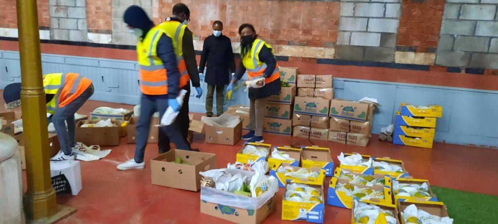 WODIN African Ethnic Foodbank volunteers