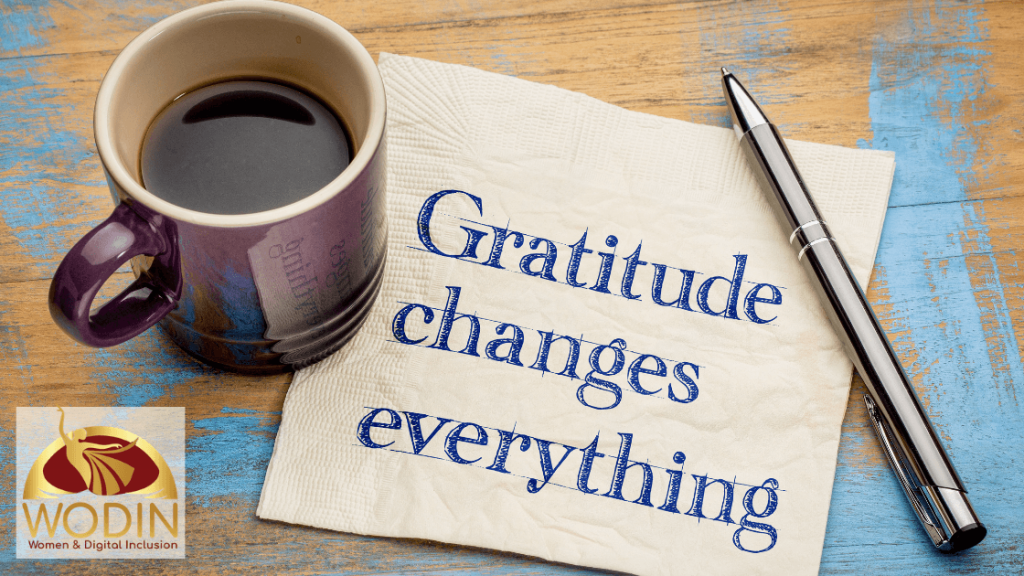 Gratitude at the heart of charity and Abundant living